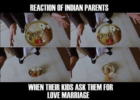 parents reaction for love marriage of their children