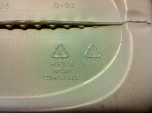 Numbers on bottom of plastic